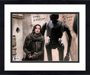 "Alan Tudyk Rogue One A Star Wars Story ""K-2SO"" Signed 8x10 Photo BAS #G56939"