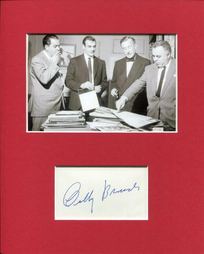 Albert Cubby Broccoli James Bond Signed Autograph Photo Display Sean Connery JSA