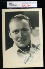 Albert Dekker D.68 Jsa Coa Hand Signed The Wild Bunch Photo Authentic Autograph