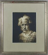 "Albert Einstein ""1935"" Signed 7.5x9.75 Framed Photo BAS #A89682"
