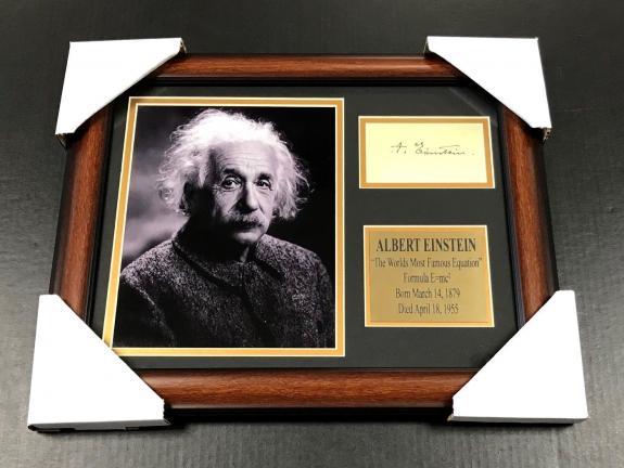 ALBERT EINSTEIN FORMULA E=MC2 Autographed Facsimile Reprint Framed 8x10 Photo