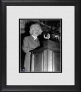 "Albert Einstein Framed 8"" x 10"" at Podium Photograph"