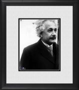 "Albert Einstein Framed 8"" x 10"" in Black Jacket Photograph"