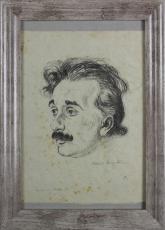 Albert Einstein Signed 8x10.5 LE #27/150 Hermann Struck Art Print PSA #AB12549