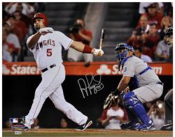 "Albert Pujols Los Angeles Angels Autographed 16"" x 20"" vs Kansas City Royals Photograph - Mounted Memories"