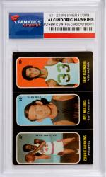 Lew Alcindor & Connie Hawkins Milwaukee Bucks 1971-72 Topps Stickers #37-38-39 Card