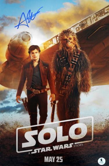 Alden Ehrenreich Autographed Star Wars SOLO 11x17 Movie Poster