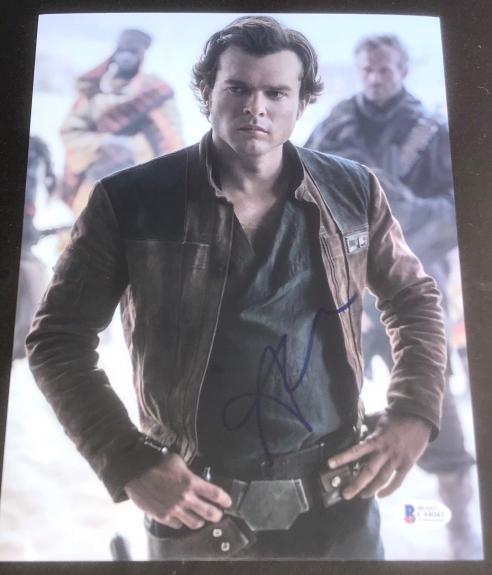 Alden Ehrenreich Signed Autograph Star Wars Han Solo Brand New Photo Beckett D