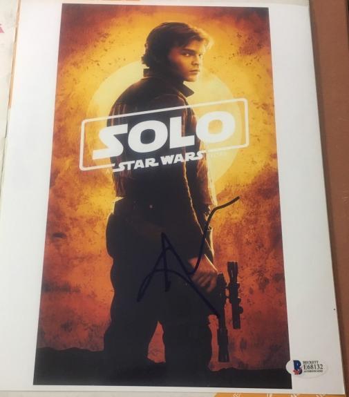 Alden Ehrenreich Signed Autograph Star Wars Han Solo Story New Poster Beckett A