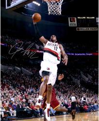 """LaMarcus Aldridge Portland Trail Blazers Autographed 16"""" x 20"""" Dunk vs. Cleveland Cavaliers Photograph"""