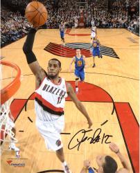 """LaMarcus Aldridge Portland Trail Blazers Autographed 8"""" x 10"""" Dunk vs. Golden State Warriors Photograph"""