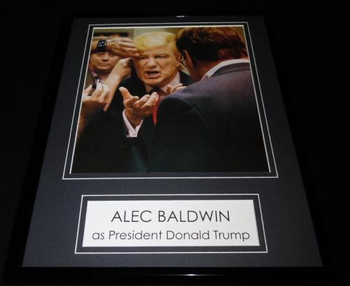 Alec Baldwin as Donald Trump Framed 11x14 Photo Display