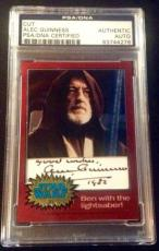 Alec Guinness Obi Won Topps AUTO Signed Autograph PSA/DNA Star Wars Chrome