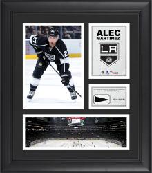 """Alec Martinez Los Angeles Kings Framed 15"""" x 17"""" Collage with Piece of Game-Used Puck"""