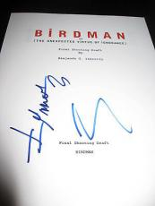 Alejando Inarritu Signed Autograph Birdman Script Full All Pages Keaton Coa D