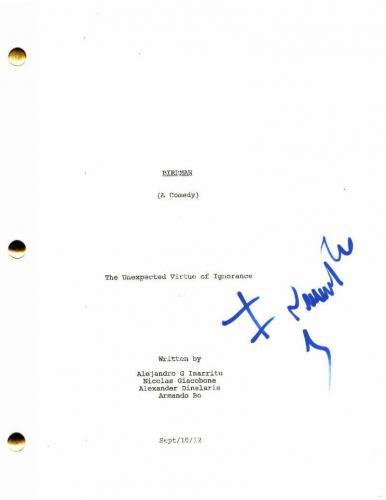 Alejandro Inarritu Signed Autograph - Birdman Full Movie Script - Michael Keaton