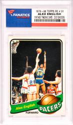 Alex English Indiana Pacers 1979-80 Topps Rookie #31 Card