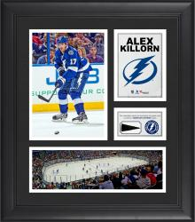 """Alex Killorn Tampa Bay Lightning Framed 15"""" x 17"""" Collage with Piece of Game-Used Puck"""