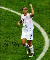 "Alex Morgan Team USA Autographed 08"" x 10"" Fist Pump Photograph"