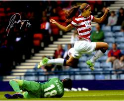 "Alex Morgan Team USA Autographed 16"" x 20"" In Air Photograph"