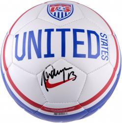 Alex Morgan Team USA Autographed USA White Soccer Ball