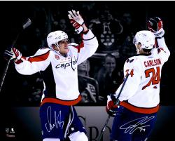 "Alex Ovechkin & John Carlson Washington Capitals Autographed 16"" x 20"" Spotlight Photograph"