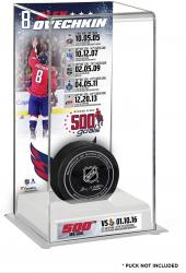 Alex Ovechkin Washington Capitals 500th Career Goal Deluxe Tall Hockey Puck Case