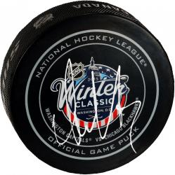 Alex Ovechkin Washington Capitals Autographed 2015 Winter Classic Official Game Puck