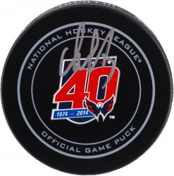 Alex Ovechkin Washington Capitals Autographed 40th Anniversary Official Game Puck