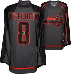 Alex Ovechkin Washington Capitals Autographed Charcoal Reebok Cross Check Premier Jersey