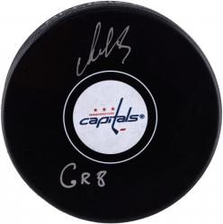 Alex Ovechkin Washington Capitals Autographed Hockey Puck with The Great Eight Inscription