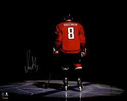 "Alex Ovechkin Washington Capitals Autographed Red Jersey Spotlight 16"" x 20"" Photograph"
