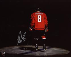 "Alex Ovechkin Washington Capitals Autographed Red Jersey Spotlight 8"" x 10"" Photograph"