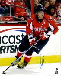 "Alex Ovechkin Washington Capitals Autographed Skating With Tongue Out 16"" x 20"" Photo"