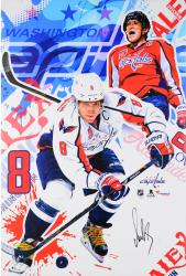 "Alex Ovechkin Washington Capitals Autographed Stretched and Gallery Wrapped 25"" x 38"" Canvas - #8 of a Limited Edition of 8"