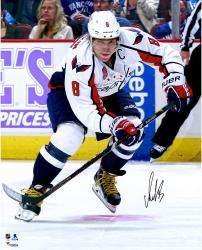 "Alex Ovechkin Washington Capitals Autographed White Jersey Skating 16"" x 20"" Photograph"