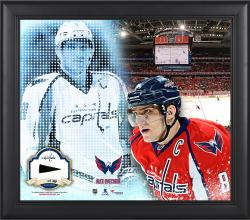 Alex Ovechkin Washington Capitals Framed 15'' x 17'' Mosaic Collage with Piece Of Game-Used Puck-Limited Edition of 99