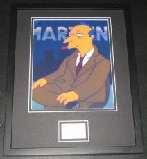Alex Rocco The Simpsons Signed Framed 11x14 Photo Display JSA Roger Meyers Jr