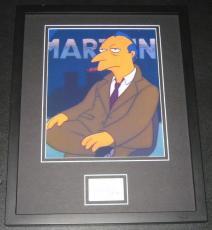 Alex Rocco The Simpsons Signed Framed 11x14 Photo Display JSA Roger Meyers Jr