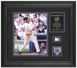 """Alex Rodriguez New York Yankees 500th HR Framed 8"""" x 10"""" Photograph with Game-Used Baseball Piece & Descriptive Plate - Limited Edition of 500"""