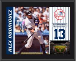 "Alex Rodriguez New York Yankees Sublimated 10"" x 13"" Plaque"