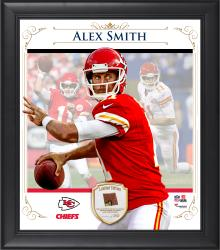 "Alex Smith Kansas City Chiefs Framed 15"" x 17"" Composite Collage with Piece of Game-Used Football"