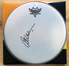 Alex Van Halen Signed Drumhead JSA COA