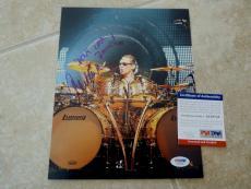 Alex Van Halen Vintage Don't Look Back Signed Autograph 8x10 Photo PSA Certified