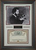 Alexander Graham Bell Laser Signed Framed Stock