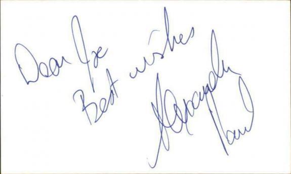 """Alexandra Paul Actress Baywatch Signed 3"""" x 5"""" Index Card"""