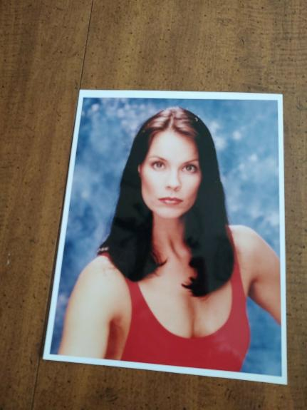 Alexandra Paul- signed index card and Photo -22- COA