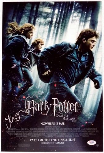 ALEXANDRE DESPLAT SIGNED HARRY POTTER AND THE DEATHLY HOLLOWS 1 12x18 PHOTO PSA