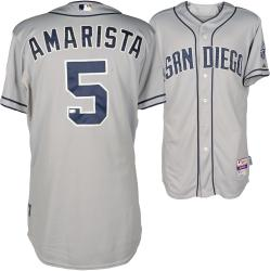Alexi Amarista San Diego Padres Game Used Gray Jersey from 6/12/14 vs Philadelphia Phillies