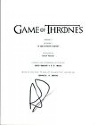 """Alfie Allen Signed Autographed Game of Thrones """"A Man Without Honour"""" Script VD"""